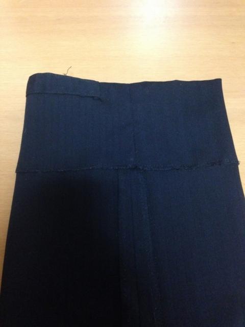 手縫い,裾
