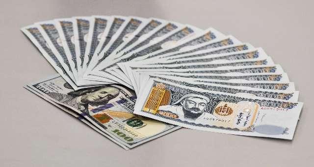 並べられたお金