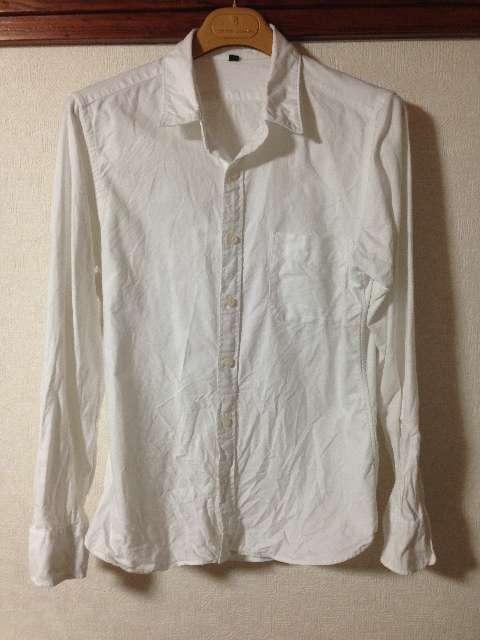 無印良品のオックスフォード白シャツ