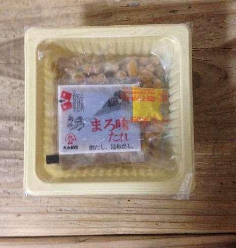 納豆とタレと辛子