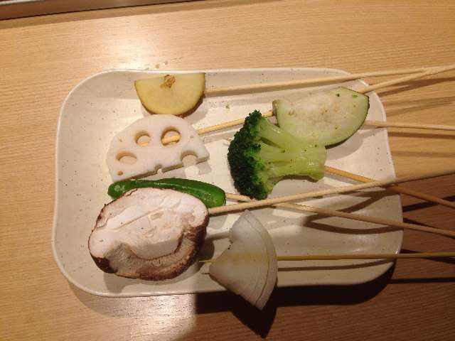 串揚げ食べ放題串家物語の野菜