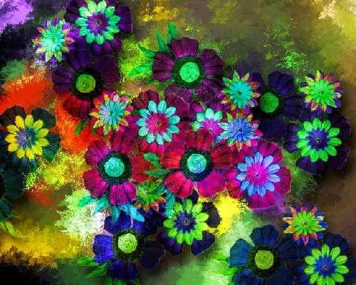 色が反転した花