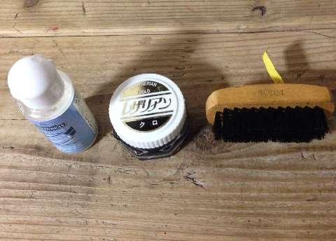 モゥブレイのステインリムーバー、コロンブスのレザリアンゴールド 黒、磨くための豚毛ブラシ