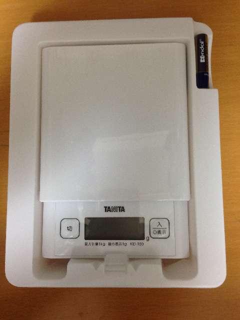 タニタのキッチンスケールKD-180-WH11