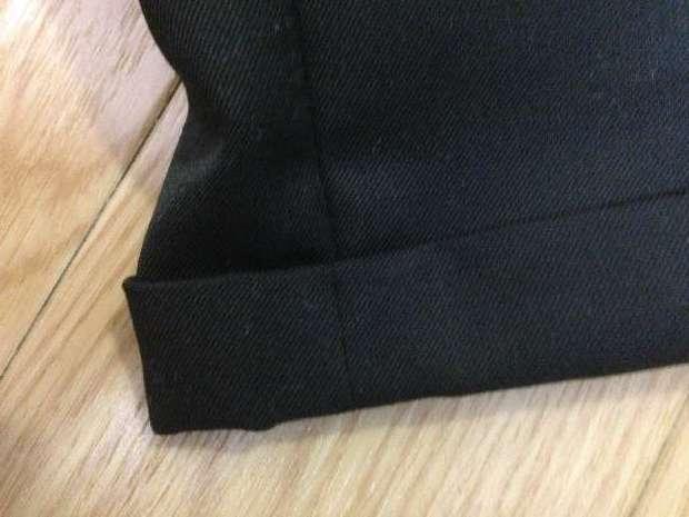 スーツの裾をダブルにする方法