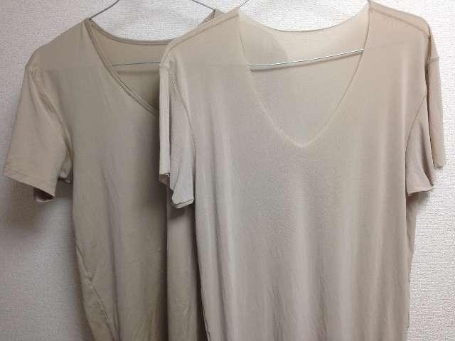 エアリズムTシャツとエアリズムシームレスTシャツ