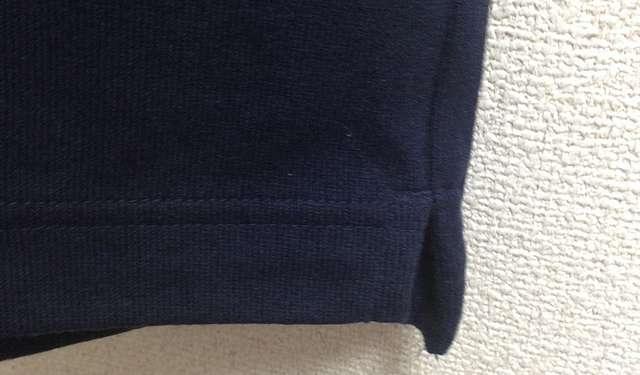 ユニクロのビッグシルエットTシャツのスリット
