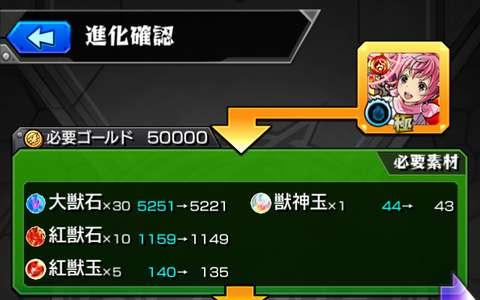 火属性の進化に必要な紅獣玉、紅獣石