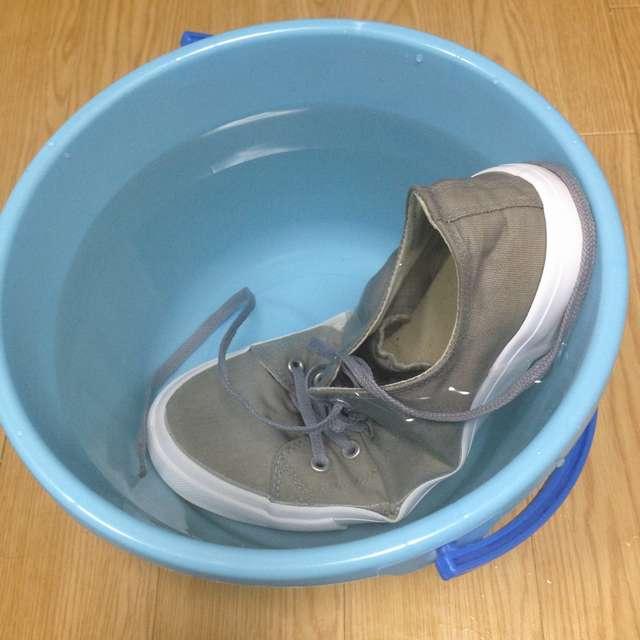 スニーカーを洗ったら黄ばんだので対処法を実践した結果!
