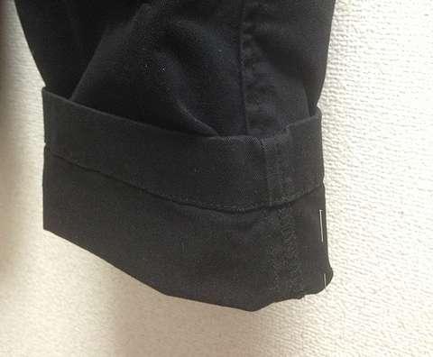 パンツの裾上げ