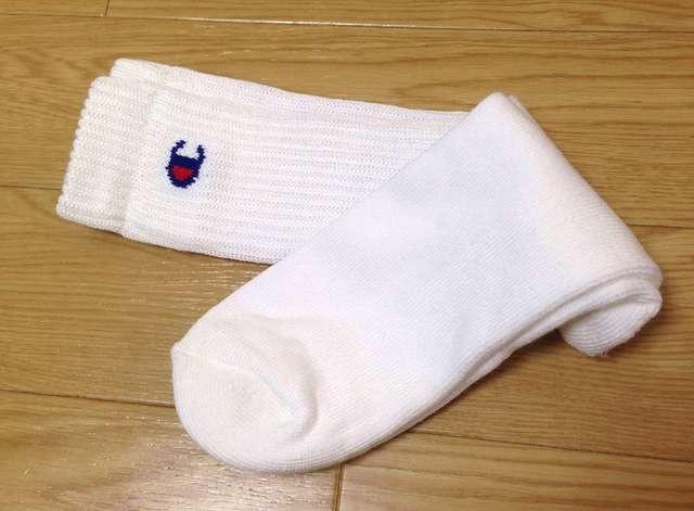 チャンピオンの靴下(白)を3足セット
