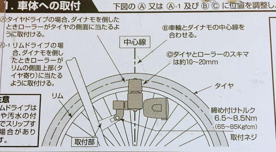 自転車のダイナモライトをLEDに交換する