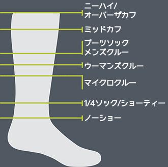 ダーンタフの靴下の長さの違い