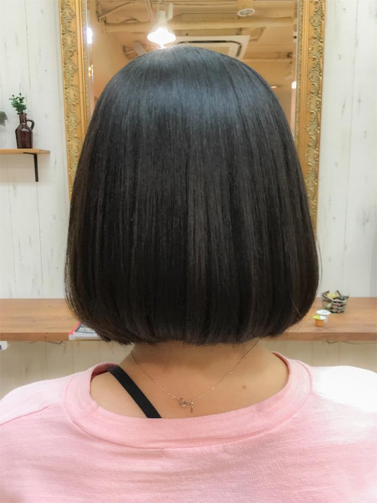 縮毛矯正してオルチャン風韓国人タンバルモリにカットさせていただきました。