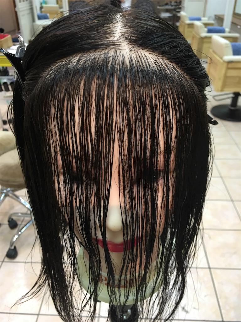 韓国女優イヨンヒのような流れる前髪のカット。ブロッキング編。