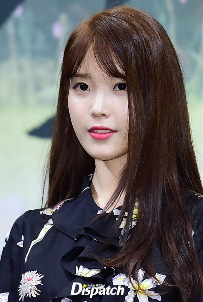 2016年韓国で流行りの前髪月の恋人IUさん