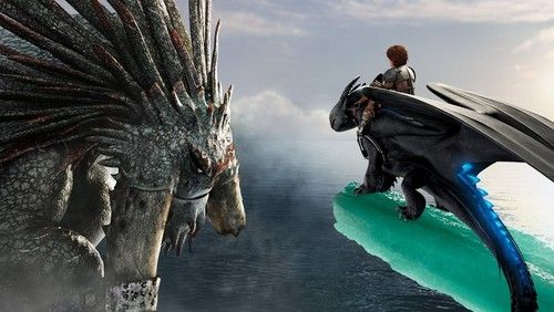アニメ映画「ヒックとドラゴン2」より、巨大ドラゴン、ワイルダービーストに挑む
