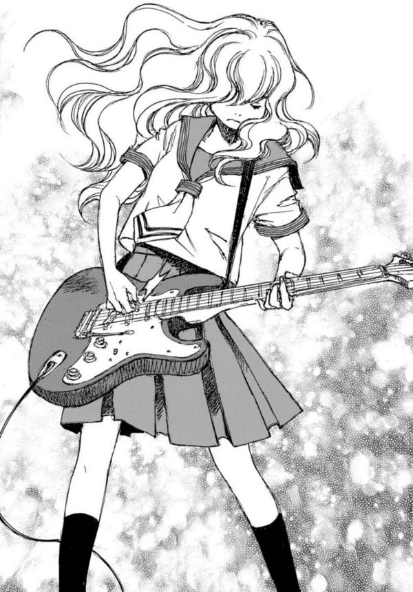 「空電ノイズの姫君」(冬目景)ギターを弾く磨音