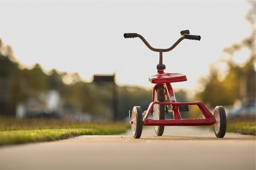 三輪車、夏のなごり