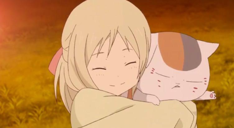 アニメ「夏目友人帳 伍」第二話、ニャンコ先生と子供の妖怪