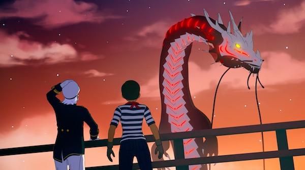 アニメ「RWBY(ルビー)Volume 4」第3話、海のドラゴン型グリム