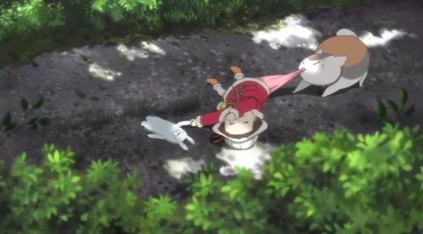 アニメ「夏目友人帳 伍」特別編ニャンコ先生とはじめてのおつかいより、先生の子守