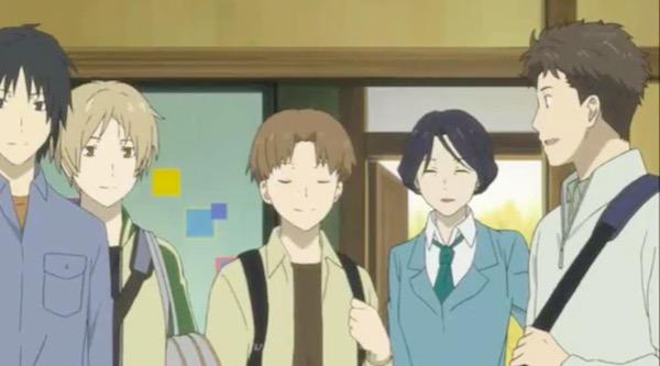 アニメ「夏目友人帳 伍」第七話より、民宿へ手伝いに来た夏目一行