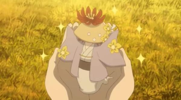 アニメ「夏目友人帳 伍」第九話険しきをゆくより、花で着飾るしいたけ妖怪三ツ皿
