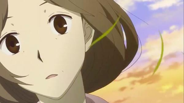 アニメ「夏目友人帳 伍」第十話より、買い物帰りに夏目を見つけた塔子