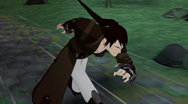 アニメ「RWBY(ルビー)Volume 4」第6話より、ルビーを狙うティリアン