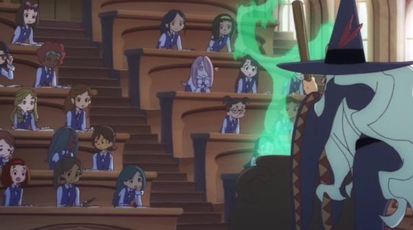 TVアニメ「リトルウィッチアカデミア」2話より、魔法薬学の授業風景