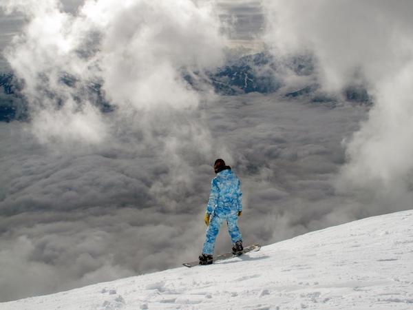 スノーボード、冬のイメージ