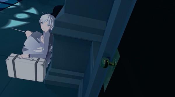 アニメ「RWBY(ルビー)Volume 4」第11話より、ワイスの出発