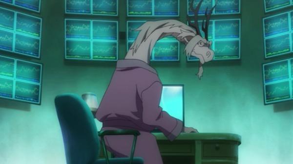 TVアニメ「リトルウィッチアカデミア」5話より、ドラゴンはデイトレーダー