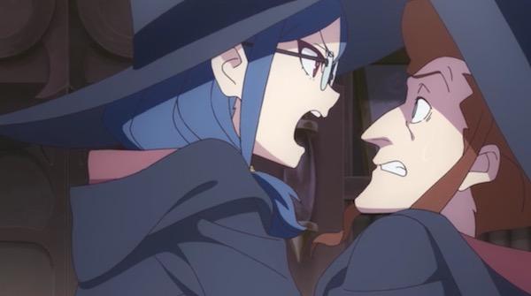 TVアニメ「リトルウィッチアカデミア」7話より、フィネラン先生に言い返すアーシュラ先生