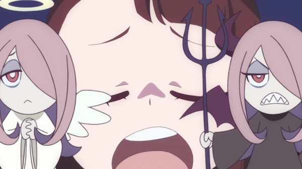 TVアニメ「リトルウィッチアカデミア」8話より、天使と悪魔のルーシィ