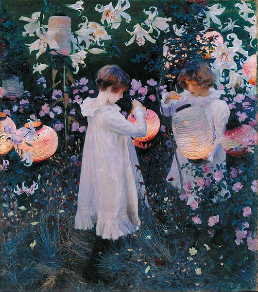 「Carnation, Lily, Lily, Rose」(John Singer Sargent)
