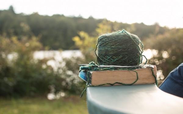 毛糸玉と本