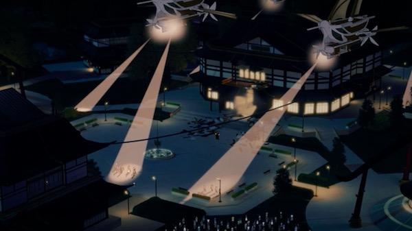 「RWBY(ルビー)Volume 5」第13話より、ヘイヴン・アカデミーに警察が到着
