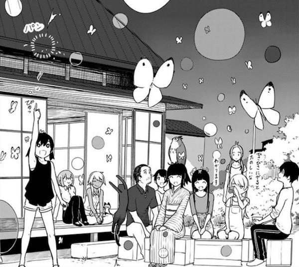 「ふらいんぐうぃっち」(石塚千尋)6巻より、千夏の初魔法のお祝い