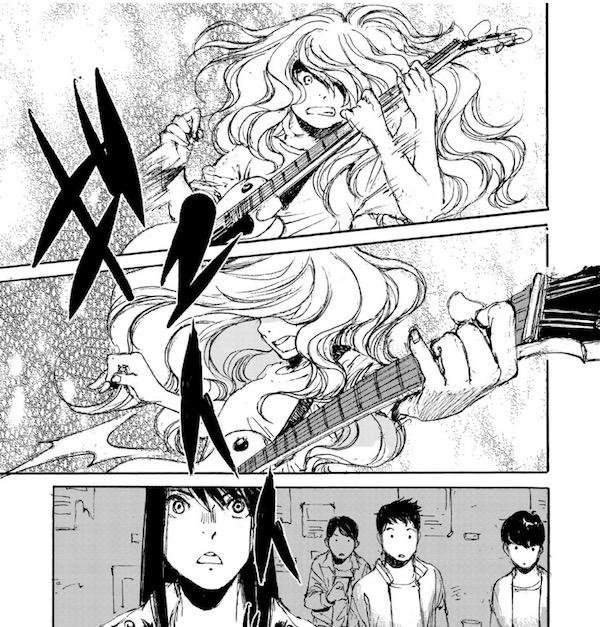 「空電の姫君」(冬目景)5話より、磨音渾身のギターソロ