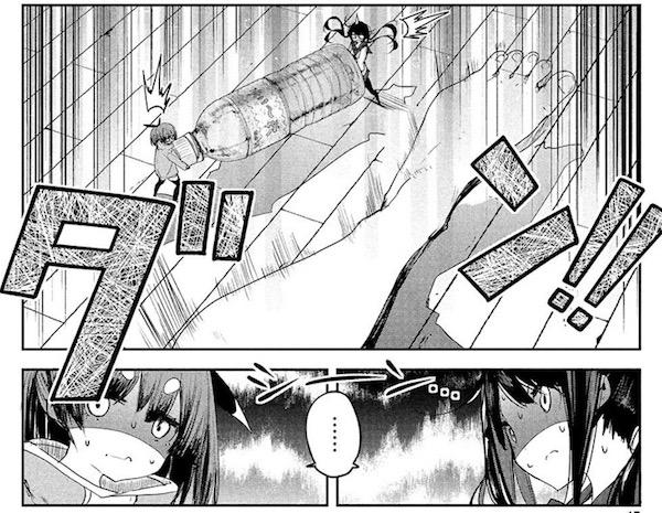 「小さいノゾミと大きなユメ」(浜弓場双)7話より、ペットボトルの水を運ぶノゾミとナエ