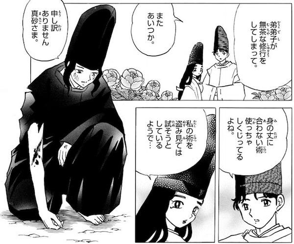 「MAO」(高橋留美子)40話より、弟弟子不知火のために薬草を手に入れる真砂