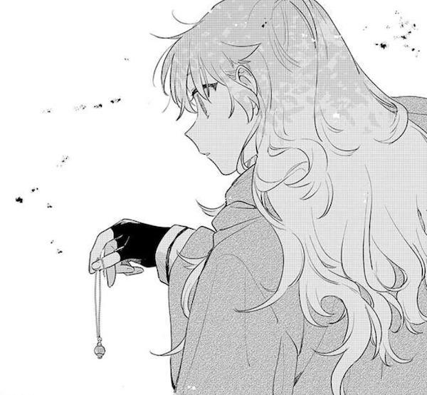 「きみが死ぬまで恋をしたい」(あおのなち)14話より、セイランのペンダントを拾うミミ