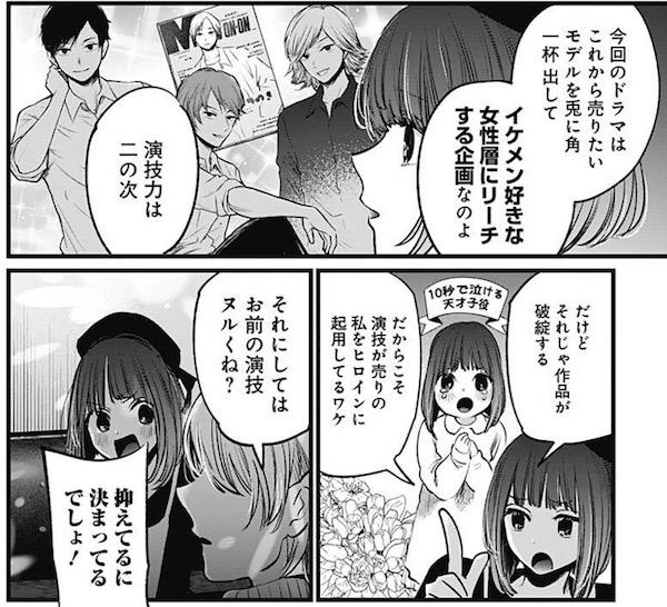 「【推しの子】」(赤坂アカ、横槍メンゴ)15話より、今回のドラマの演出意図