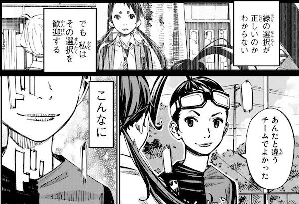 「さよなら私のクラマー」(新川直司)55話(最終話)より、あんたと違うチームでよかった