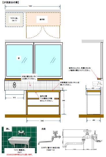 造作洗面台イメージ図