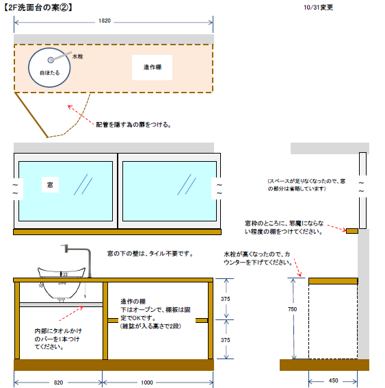 洗面台イメージ図