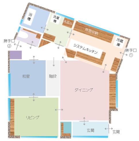 1階窓配置図