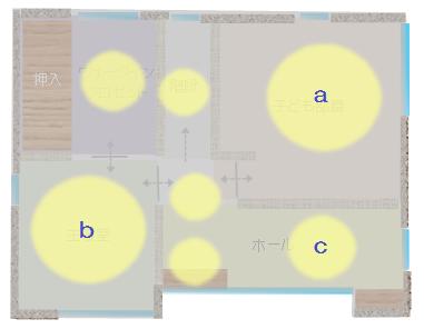 2階の照明計画